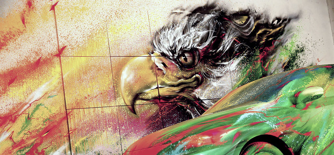 Hua Tunan 巨幅喷绘艺术欣赏