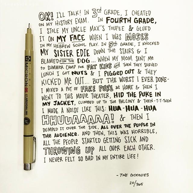 Ian Simmons 电影对白 花体字体排版设计欣赏
