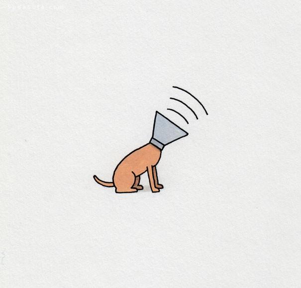 Jaco Haasbroek 极简主义风的食物主题的可爱小插画