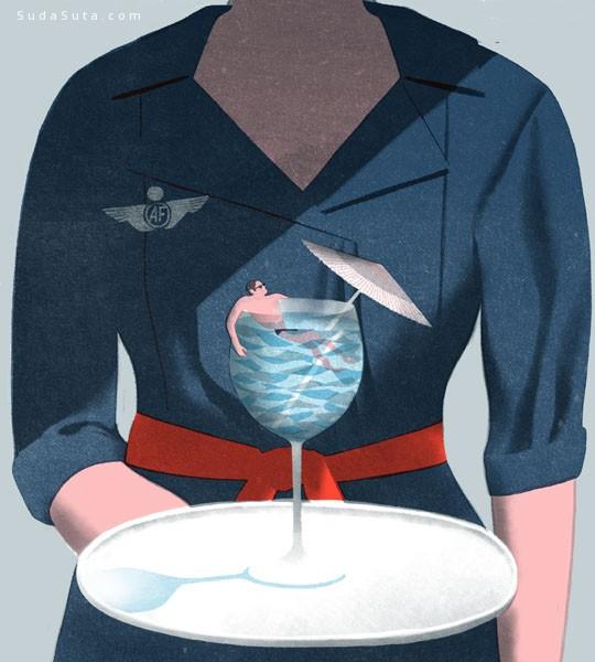 Jun Cen 温馨安静的商业插画欣赏