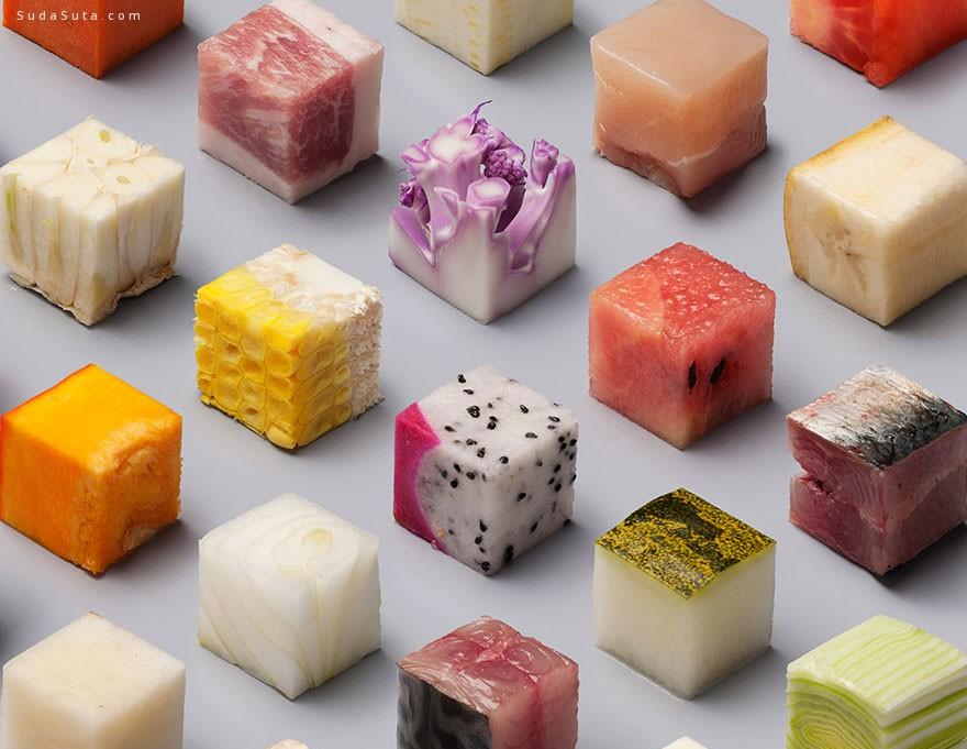 Lernert 和 Sander 的美食作品 立方体堆叠