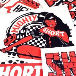 MIGHTY SHORT 复古风格的纸牌卡片设计欣赏