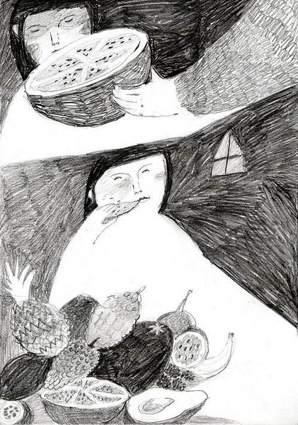 Melissa Castrillon 手绘黑白插画欣赏