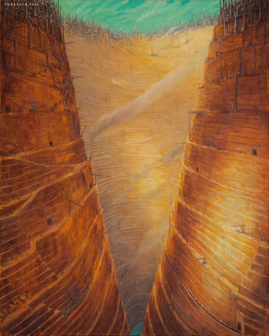 Michael Kerbow 密集恐惧症 绘画作品欣赏