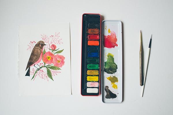 Oana Befort 慢生活 手绘美食和花朵
