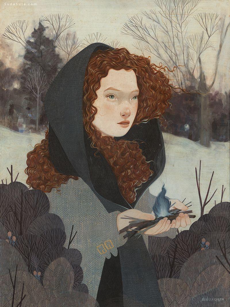Rebecca Green 细腻的绘画艺术欣赏