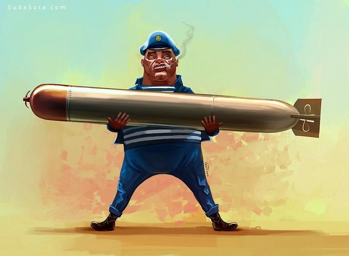Uzhazz 幽默可爱的卡通插画欣赏