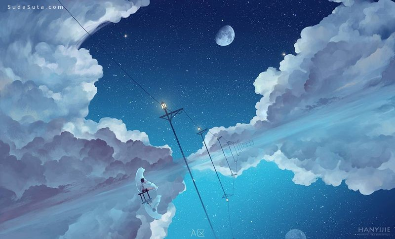 星空与美少女 可爱的日本漫画CG欣赏