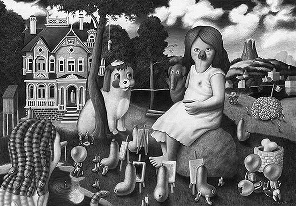 Amandine Urruty 奇妙的手绘艺术欣赏