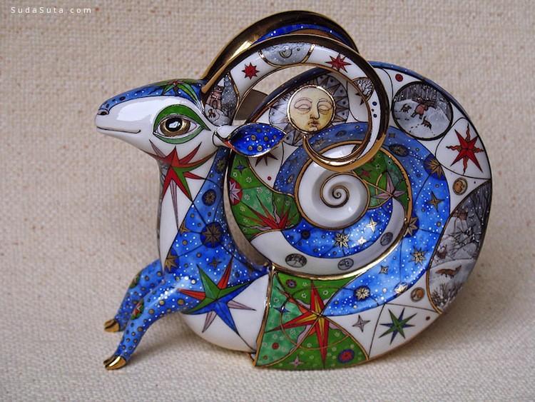 Anya Stasenko和 Slava Leontyev  可爱的怪物陶瓷设计欣赏