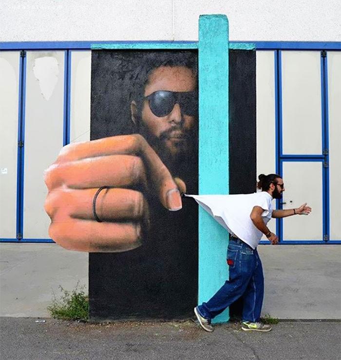 Caiffa Cosimo 视觉魔法 街头涂鸦欣赏