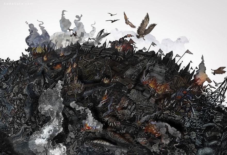 Dalip Singh 手绘艺术欣赏
