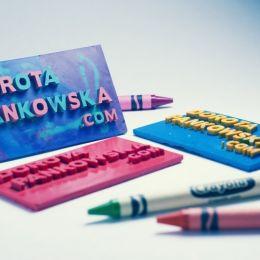 Dorota Pankowska 超级可爱的蜡笔名片