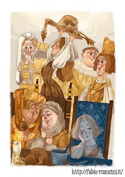 Fabio Mancini 唯美复古的卡通插画欣赏