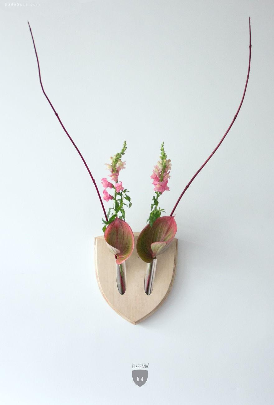 Ikebana 让你的墙壁生动自然