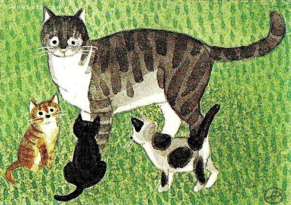 Jan Balet 猫咪的绘画