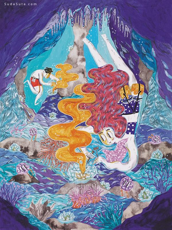 Josephine Kyhn 个性插画艺术欣赏