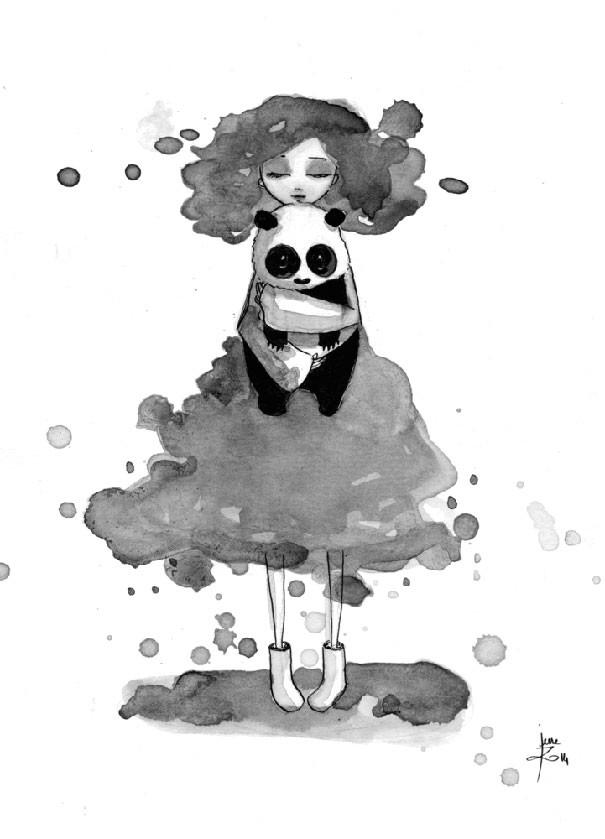 June Leeloo 熊猫和女生