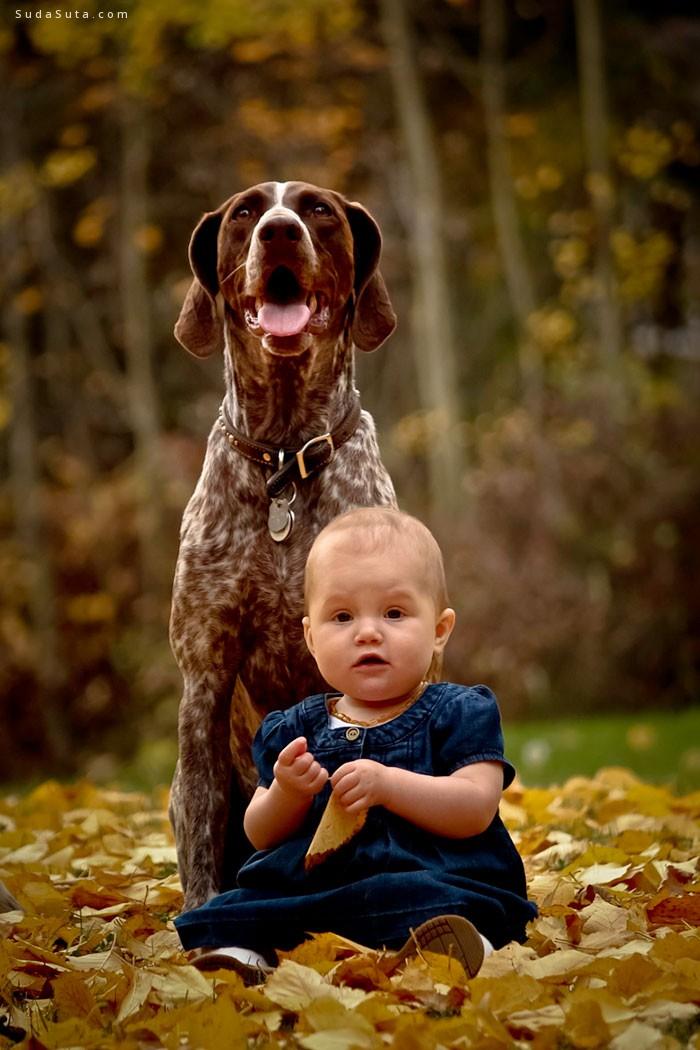 孩子与汪星人 可爱的家庭摄影欣赏