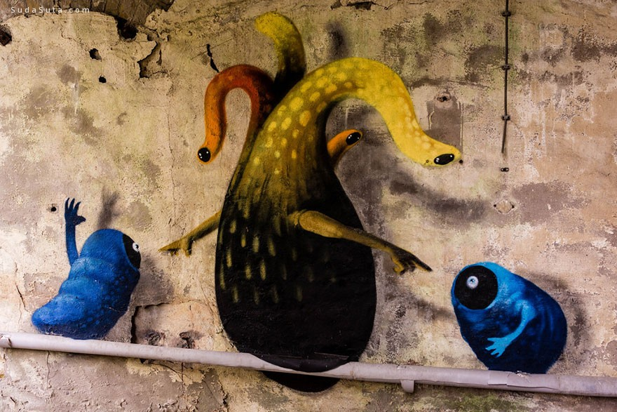 Kim Kwacz 怪物占领城市 城市涂鸦欣赏