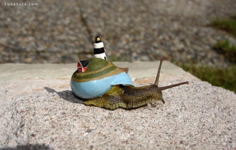 Stefan Siverud 用颜色来装饰蜗牛