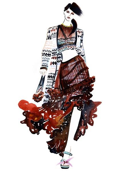 Sunny Gu 手绘服装设计欣赏