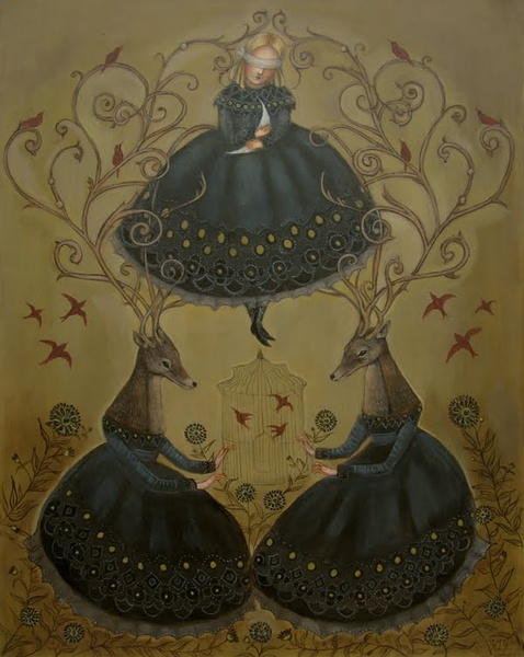 Swan Bone 梦魇般的绘画艺术欣赏