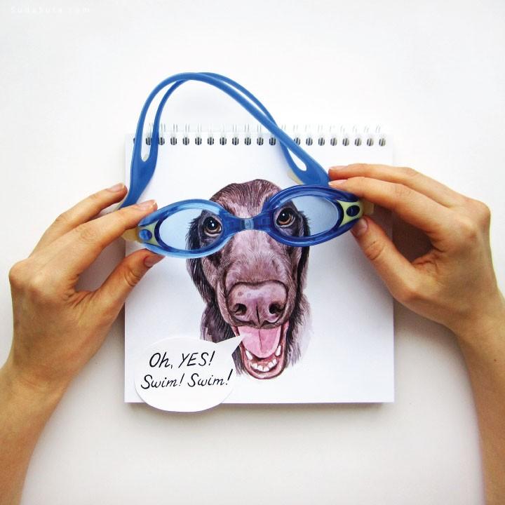 Valerie Susik 招猫递狗 可爱的创意涂鸦