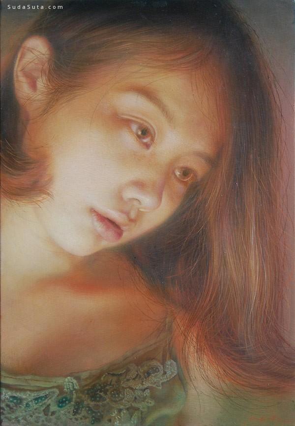 Yuna Tsuru 细腻唯美的人像插画