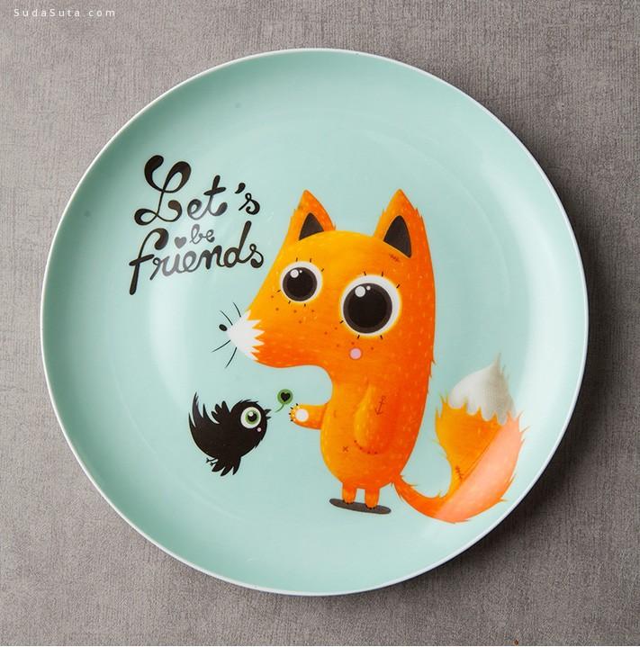 朵颐 可爱的西餐盘子