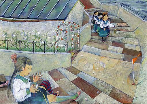 花園横丁 绘画艺术欣赏