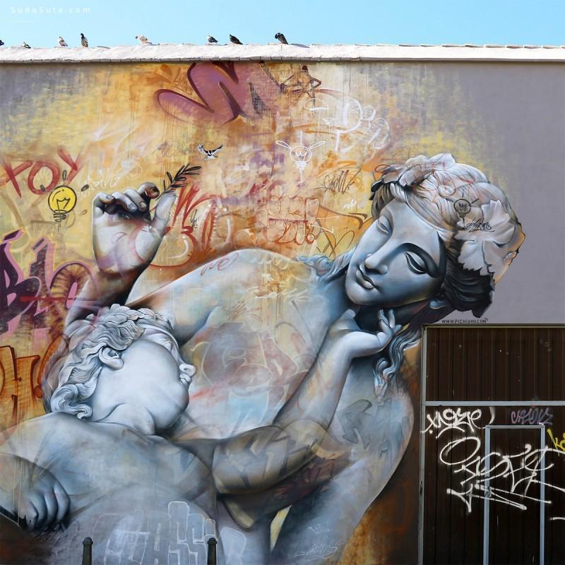 Pichi & Avo  圣经主题城市涂鸦作品欣赏