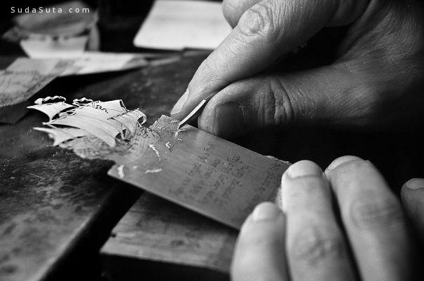 silver leaf 纯手工制作的细腻书签