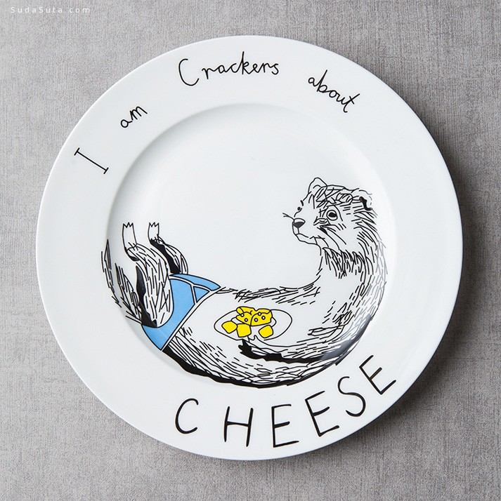 Simple简 可爱的手绘盘子