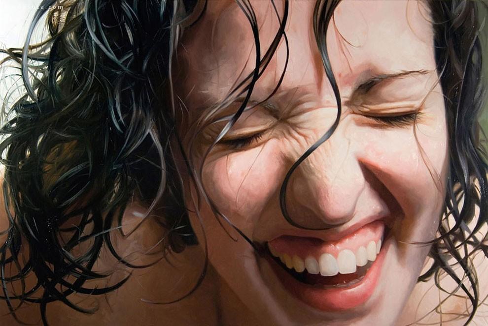Alyssa Monks 淋浴的人 超现实主义人像插画欣赏
