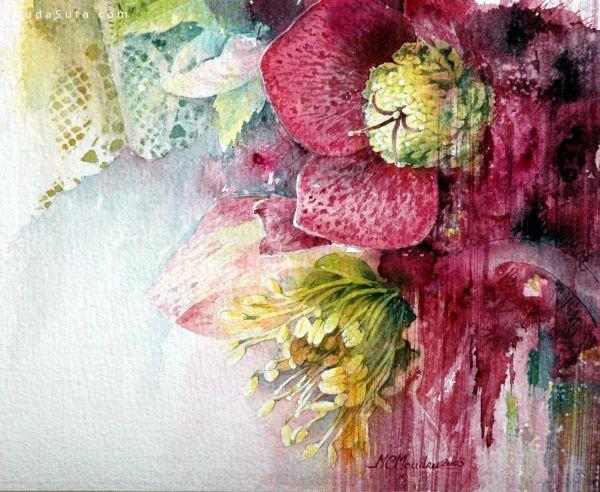 Claire Moudru 繁花如夏 水彩自然手绘欣赏