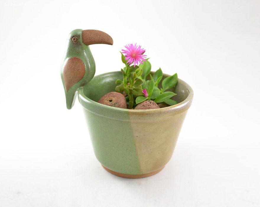 Cumbuca Chic 可爱的手工陶瓷小花盆