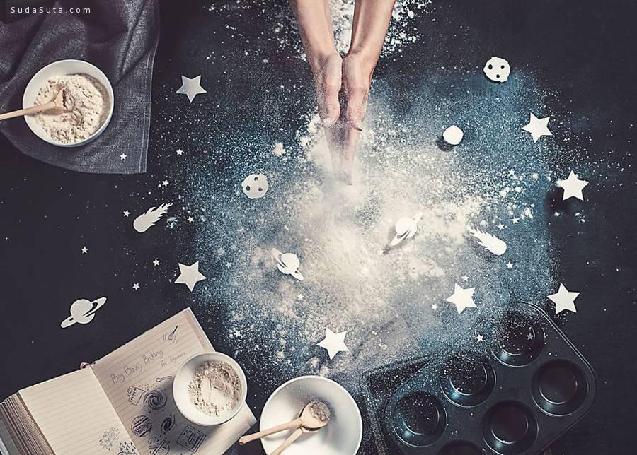 美食艺术 星系和太空的故事