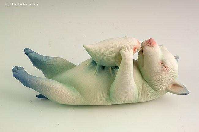 Erika Sanada 令人毛骨悚然的生物雕塑
