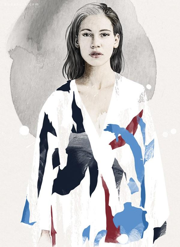 Esra Røise 青春水彩插画欣赏