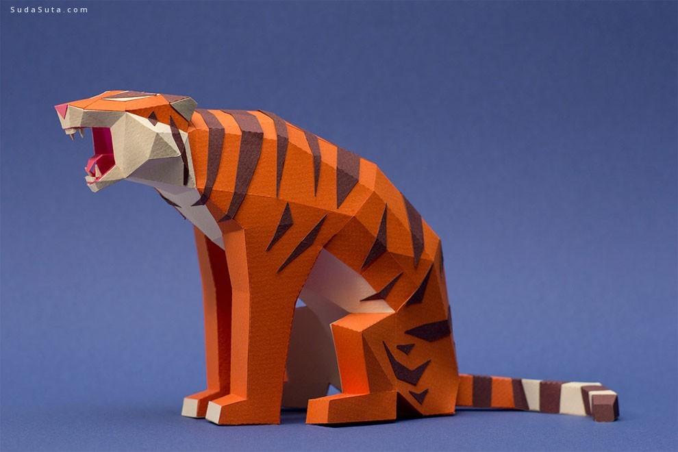 Estudio Guardabosques 3d立体动物造型纸模