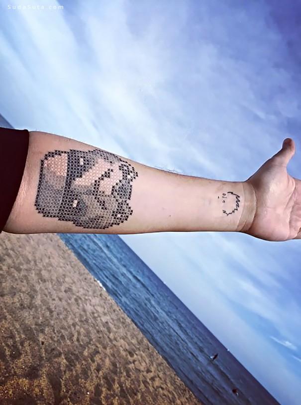 Eva Krbdk 十字绣样的青春纹身欣赏