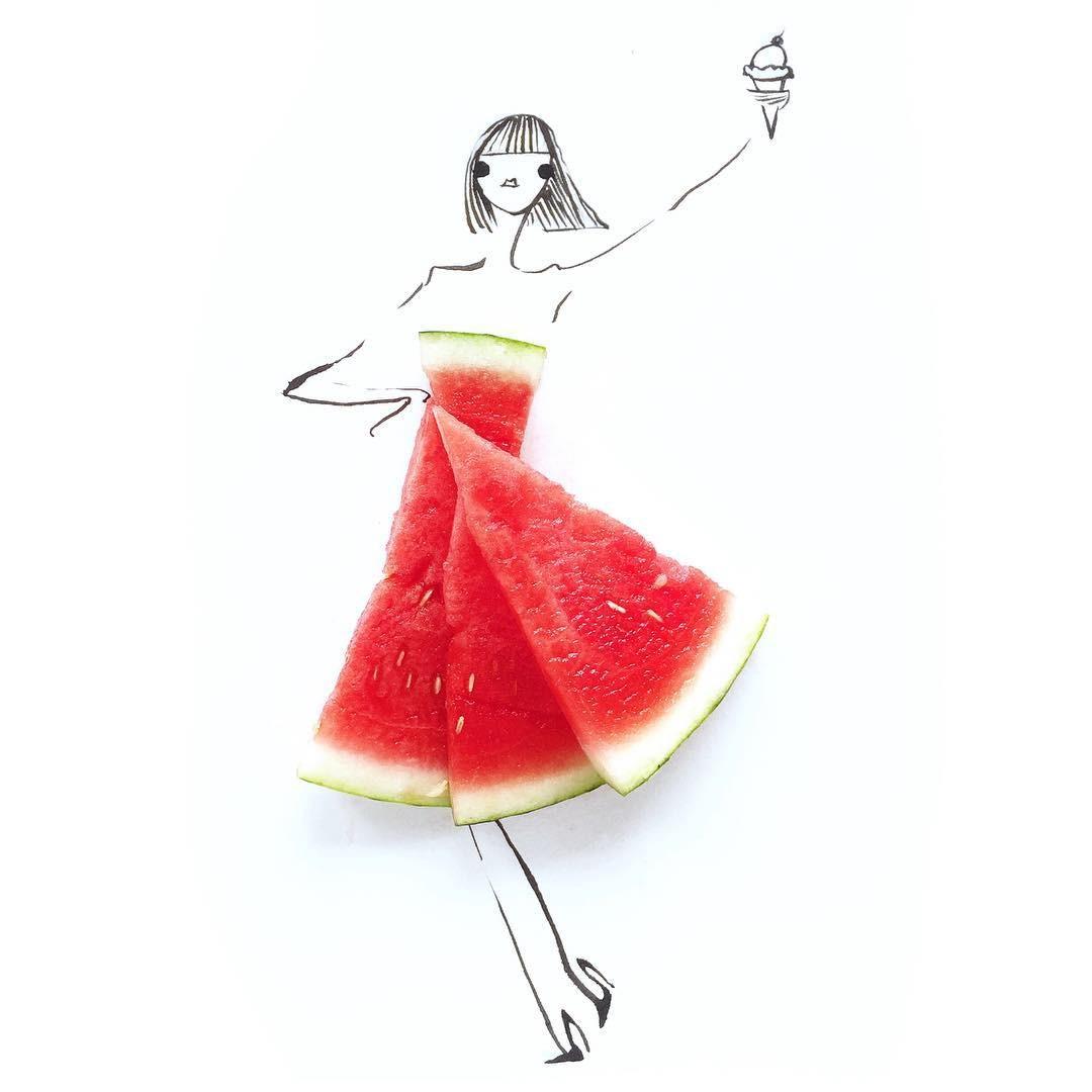 Gretchen Roehrs美食与时尚 创意艺术作品欣赏