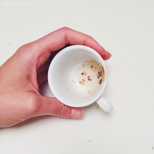 Giulia Bernardelli 优雅的咖啡渍艺术