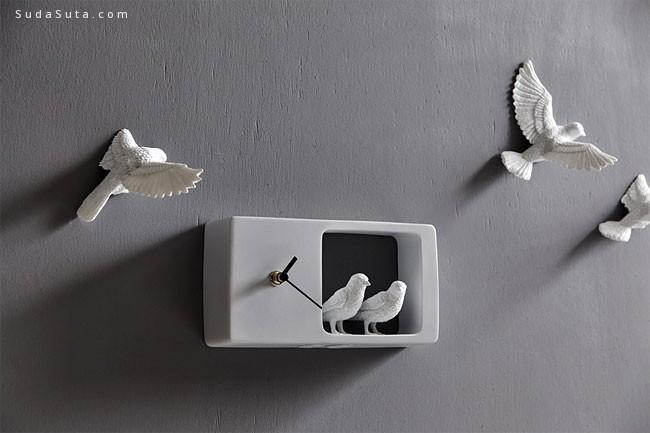可爱的小鸟时钟 Cheese设计出品