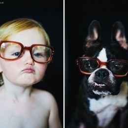 Jesse Holland 我拍摄我可爱的女儿和狗