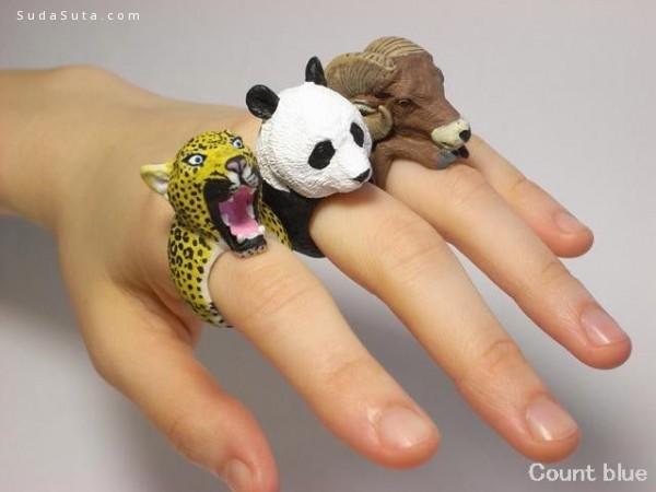 Jiro Miura 可爱的动物造型的戒指设计