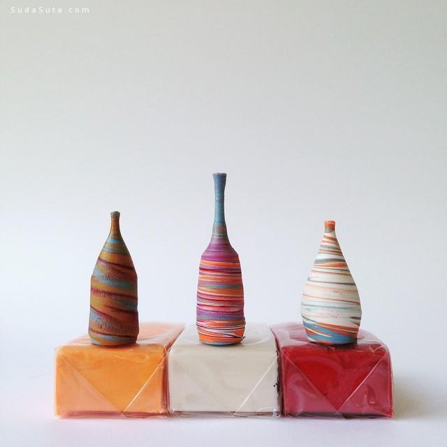 Jon Almeda 迷你的艺术陶瓷作品