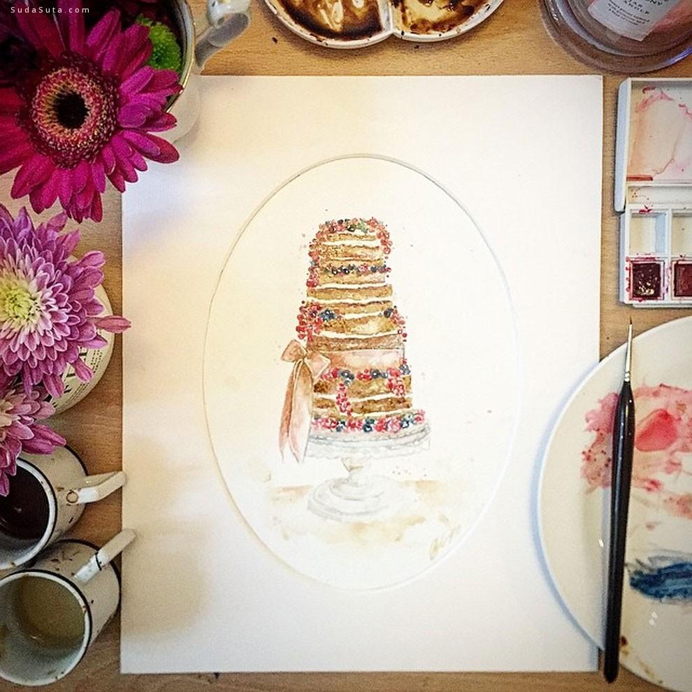 Maria A. Aristidou 用咖啡作画