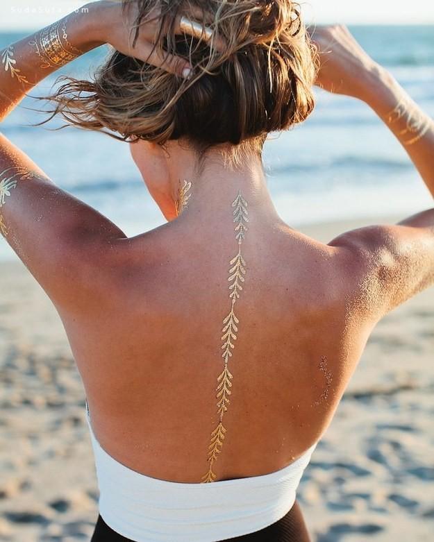漂亮的金色纹身设计欣赏